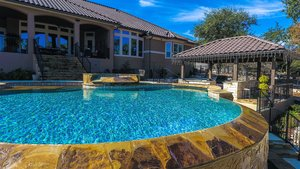 Residential Gunite Pools #013 by Pools Unlimited Inc