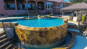 Residential Gunite Pools #014 by Pools Unlimited Inc