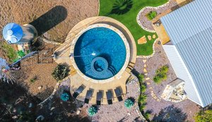 Residential Gunite Pools #018 by Pools Unlimited Inc
